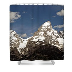 Teton Tips Shower Curtain by Living Color Photography Lorraine Lynch