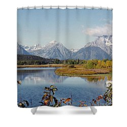 Tetons Reflection Shower Curtain