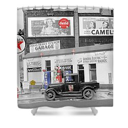 Texaco Station Shower Curtain by Andrew Fare