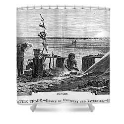 Texas Cattle Trade, 1874 Shower Curtain by Granger