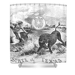Texas Scene, 1855 Shower Curtain by Granger