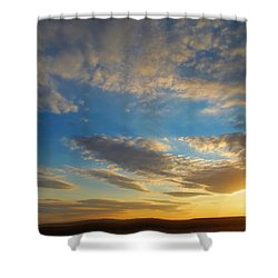 Texas Sized Sunset Shower Curtain
