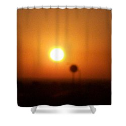 Texas Sunrise Shower Curtain by Adam Cornelison