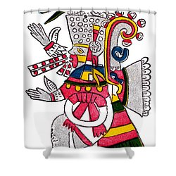 Tezcatlipoca, Aztec God Of Night, Codex Shower Curtain by Photo Researchers