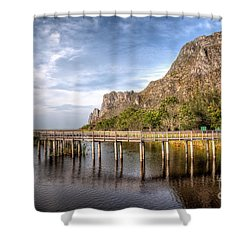 Thai Park Shower Curtain by Adrian Evans