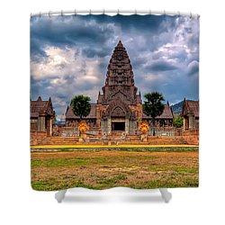 Thai Temple Shower Curtain by Adrian Evans