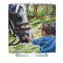 Shower Curtain featuring the painting Thank You's by Lori Brackett