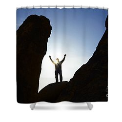 Thanks For Today Hope For Tomorrow Shower Curtain by Bob Christopher