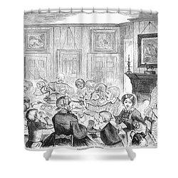 Thanskgiving Dinner, 1857 Shower Curtain by Granger