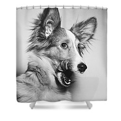 That Looks Good Shower Curtain by M E Browning and Photo Researchers