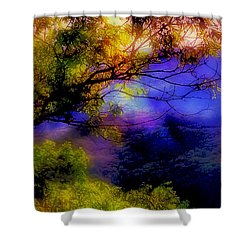 That Mountain Light Shower Curtain by Judi Bagwell