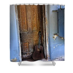 That Old Guitar Shower Curtain by Bill Cannon