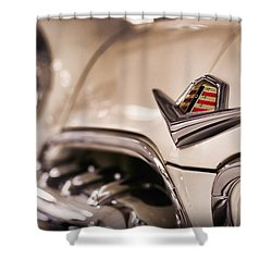 Shower Curtain featuring the photograph The 1955 Dodge La Femme by Gordon Dean II
