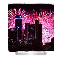 The 54th Annual Target Fireworks In Detroit Michigan Shower Curtain by Gordon Dean II