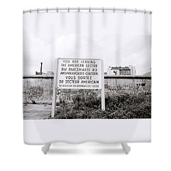 Berlin Wall American Sector Shower Curtain