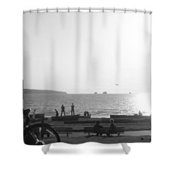 The Ancient Observer Shower Curtain