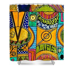 The Angel Sparkle Celebrates Life Shower Curtain by Angela L Walker
