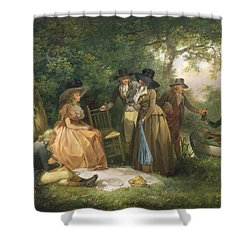 The Angler's Repast  Shower Curtain by George Morland
