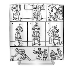 The Anthropometrical Signalment, 1896 Shower Curtain by Science Source