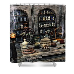 The Apothecary Shower Curtain by Jutta Maria Pusl