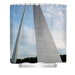 The Arch In St Louis Shower Curtain by Semmick Photo
