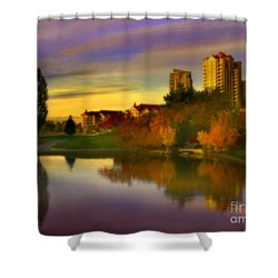 The Arrival Of Autumn Shower Curtain by Tara Turner