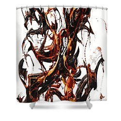 The Art Of Languishing Liquidly Well  22.120110 Shower Curtain by Kris Haas
