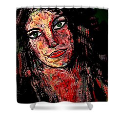 The Artist Shower Curtain by Natalie Holland