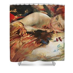 The Artist's Mistress Shower Curtain by Charles Sims