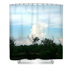 Shower Curtain featuring the photograph The Back Forty by Lon Casler Bixby