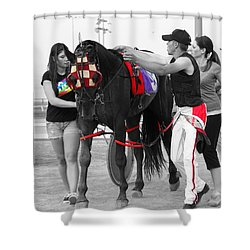 Shower Curtain featuring the photograph The Backside by Davandra Cribbie