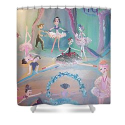 Shower Curtain featuring the painting The Ballet Contest by Judith Desrosiers