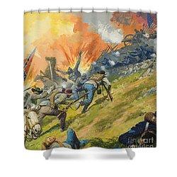 The Battle Of Gettysburg Shower Curtain by Severino Baraldi