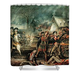 The Battle Of Trenton 1776 Shower Curtain by Photo Researchers