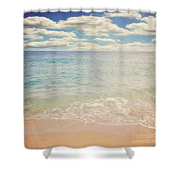 The Beach Shower Curtain by Lyn Randle