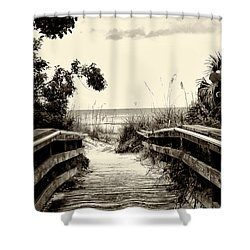 The Beach Path - Clearwater Beach Shower Curtain by Bill Cannon