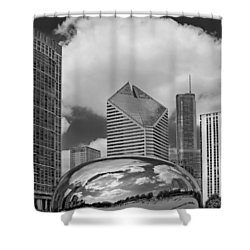 The Bean Chicago Illinois Shower Curtain by Dave Mills