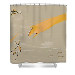 The Beast Afoot Shower Curtain by Kevin McLaughlin