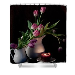 The Beauty Of Tulips Shower Curtain by Sherry Hallemeier