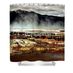 The Beauty Of Yellowstone Shower Curtain by Ellen Heaverlo