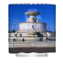 Shower Curtain featuring the photograph The Belle Isle Scott Fountain by Gordon Dean II