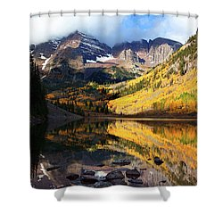 The Bells Are Ringlng Shower Curtain by Jim Garrison