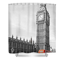 Shower Curtain featuring the photograph The Big Ben - London by Luciano Mortula
