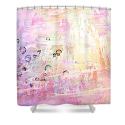 The Big Rock Candy Mountains Shower Curtain by Rachel Christine Nowicki