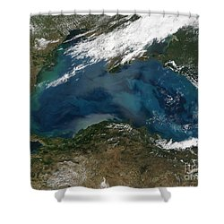 The Black Sea In Eastern Russia Shower Curtain by Stocktrek Images