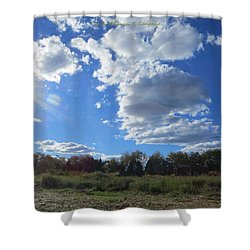 The Blue Element Shower Curtain by Sonali Gangane