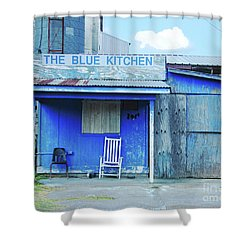The Blue Kitchen Shower Curtain