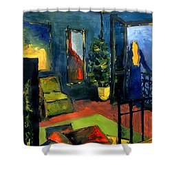 The Blue Room Shower Curtain by Mona Edulesco