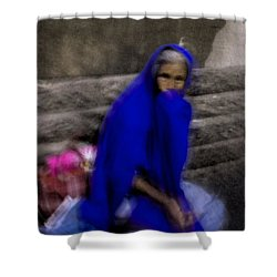 Shower Curtain featuring the photograph The Blue Shawl by Lynn Palmer