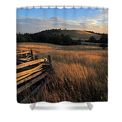 The Bluffs At Doughton Park Blue Ridge Parkway Shower Curtain by John Harmon